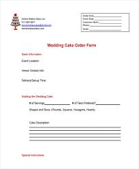 Cake Order 9 Cake Order Forms Free Samples Examples Format Download