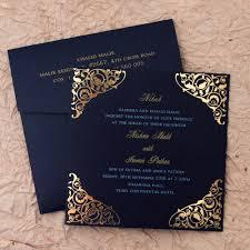 Islamic Wedding Card Gulshan Blue Wedding Islamic Cards Add A Touch Of Elegance To