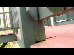 How To Build A Handrail On A Deck Deck Railing Post Danger How To Connect Youtube