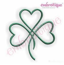 shamrock satin heart tattoo design idea