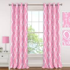 Light Pink Window Curtains Elrene Blackout Emery 52in Wx63in L Juvenile Or Tween
