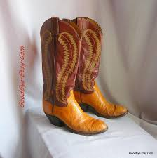 cowboy boots uk leather vintage reptile n leather cowboy boots justin size 8 5 eu