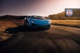 Lamborghini Aventador On Road - blue lamborghini aventador roadster looks amazing on hre wheels
