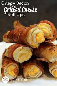 Bacon In Toaster Crispy Bacon Grilled Cheese Roll Ups Spend With Pennies