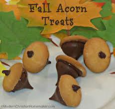 and easy fall acorn treats modern christian homemaker