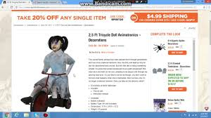 spirit halloween tricycle doll youtube