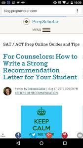 how does a counselor recommendation letter differ from a teacher