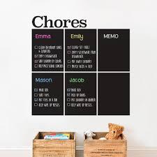 Chalk Board Wall Stickers Chores Chart Chalkboard Wall Decal
