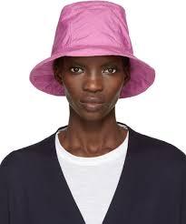 sacai luck sacai pink overdyed hat women sacai luck coats in stock