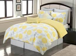 bedding design compact gray and yellow bedding set bedroom