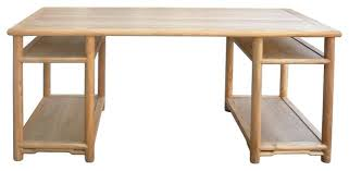 long wooden desk long natural wood painting table office writing