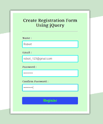 codeigniter tutorial registration form create simple registration form using jquery formget