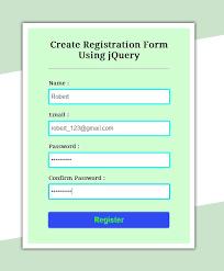 membuat form html online create simple registration form using jquery formget