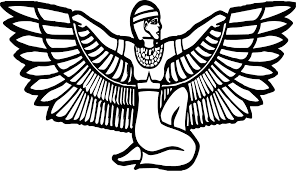 ancient egyptian figure eagle coloring page wecoloringpage