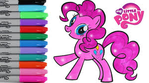 my little pony coloring book pages pinkie pie mlp video for kids