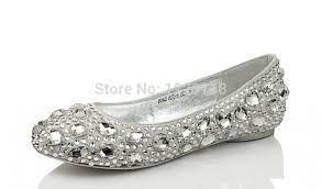 wedding shoes size 11 silver bling flats diamond wedding shoes rhinestone