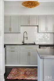 Small Condo Kitchen Ideas Kitchen Light Grey Shaker Cabinets Brass Knobs Airmaxtn