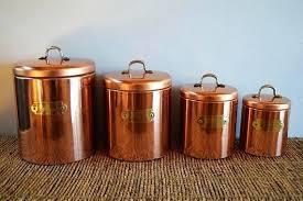 copper kitchen canister sets copper kitchen canisters vintage copper clad kitchen canister set