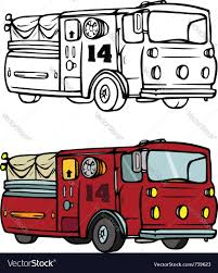 fire truck coloring book royalty free vector image