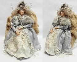 snow queen doll ooak doll art doll fairy tale doll handmade