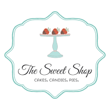 sweets logo customized with your business name sweet logo