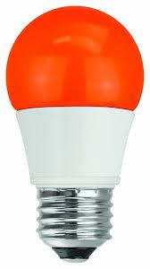 Led Light Bulbs 40 Watt Equivalent by Tcp Rlas155wor Led A15 40 Watt Equivalent 5w Orange Colored