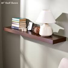 manhattan brown wooden floating wall shelves