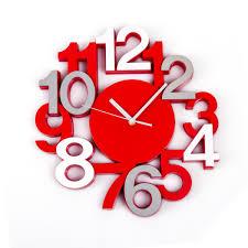 Horloge Murale Rouge by Horloge Pendule Murale Silencieuse Look Moderne Rouge