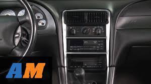 1996 Mustang Gt Interior Mustang Brushed Aluminum Carbon Fiber Dash Overlay Kit 94 04 All