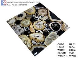 petrified wood rectangle solid table indonesia petrified wood
