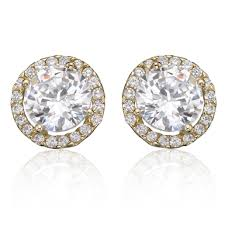 9ct gold stud earrings 9ct gold cubic zirconia stud earrings 0000636 beaverbrooks the