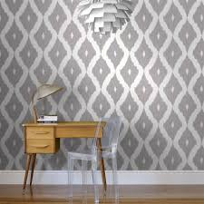 Allen Roth Wallpaper by Kelly U0027s Ikat White And Soft Grey Wallpaper Graham U0026 Brown