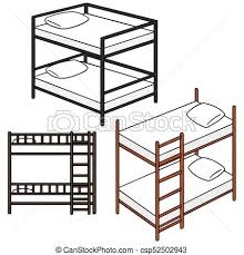 Bunk Bed Drawing Vector Set Of Bunk Bed Eps Vector Search Clip Illustration