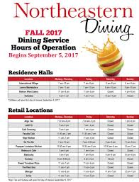 hours of operation northeastern dining services