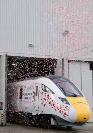 hitachi unveil new express train at their durham factory daily