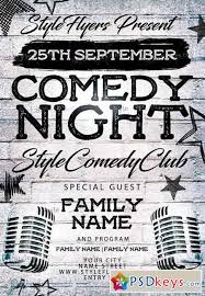 comedy night psd flyer template facebook cover ads pinterest