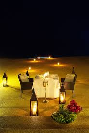 romantic dinner on the beach at tanjong jara resort in dungun
