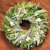 seashell wreath dried starfish seashell wreath