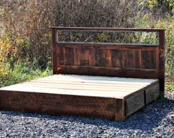 Bed Frames Ta Shenandoah Sunset Bed In Rustic Wormy Chestnut