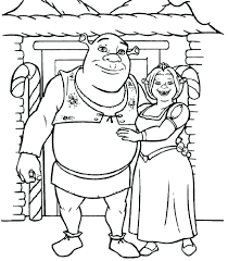 shrek dragon colouring pages coloring cartoon free shrek
