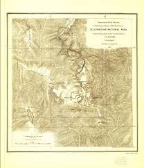 Yellowstone Map Usa by Yellowstone National Park 1871 Hayden Map Yellowstone Up Close