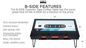 cassette tape coffee table for sale cassette tape coffee table hits kickstarter video geeky gadgets