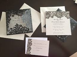 wedding invitations reviews black lace pattern laser cut wedding invitations ewws062