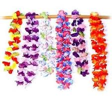 Tropical Theme Wedding - 12 pc beach party luau flower ruffled leis tropical theme wedding