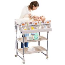 rolling baby changing table 2 in 1 baby changing table bath tub rolling unit station storage