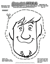 scooby doo printable coloring pages free scooby doo printable shaggy mask printable coloring pages