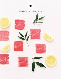 place cards diy diy watercolor place cards