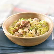 cuisiner le chou chinois chou chinois à la dinde et lait de coco recette minceur weight