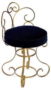 vintage hollywood regency metal vanity chair by starstruckgem