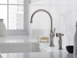 antique kohler kitchen sink faucets deck mount single handle side